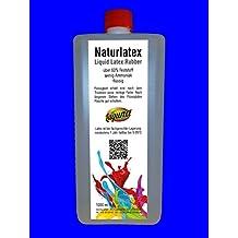 Látex líquido 1litro Liquid Leche de látex, natural, 1000ml goma natural líquido, leche de goma, látex, calcetines Cronómetro, halloween, Máscaras, Heridas, cicatrices