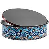 Domo Push Pan molde base extraíble, diámetro 26cm, aluminio, Azul, Multicolor, 27x 27x 7.6cm