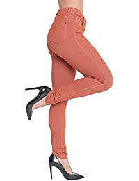 ad1a3b69ea9da Made By Malaika® Ladies Skinny Fit Coloured Jeggings New Womens Stretch  Denim Pants High Wasted