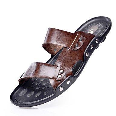 Scarpe da uomo Sandali di cuoio casuali sandali neri / Brown sandali US8 / EU40 / UK7 / CN41
