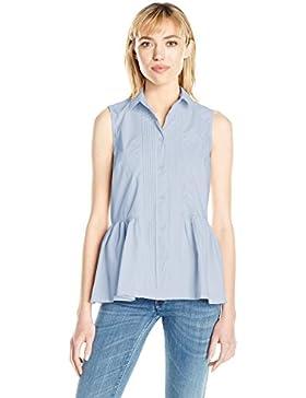 French Connection Neema Cotton Sforwardslashless Shirt, Camisa para Mujer
