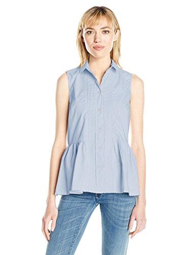 French Connection Damen Hemd Neema Cotton Sforwardslashless Shirt Blue (Salt Water)