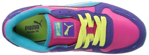 Puma Cabana Racer SL Jr 351979 Unisex-Kinder Sneaker Mehrfarbig (team violet-beetroot purple-bluebird-sunny lime 26)