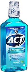 ACT Restoring Anticavity Fluoride Mouthwash Cool Splash Spearmint 33.80 oz