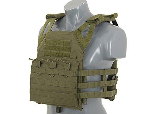 TOP FLY GEAR Tactical Vest Chest RIG avec Support DE Carte Commandant 6380 Vert