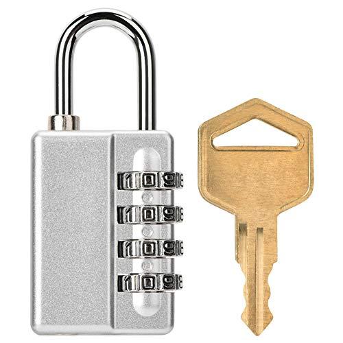 Huakii 4-stelliges Passwort mit Zahlenkombination und Schlüssel Zwei-Wege-Entriegelung -