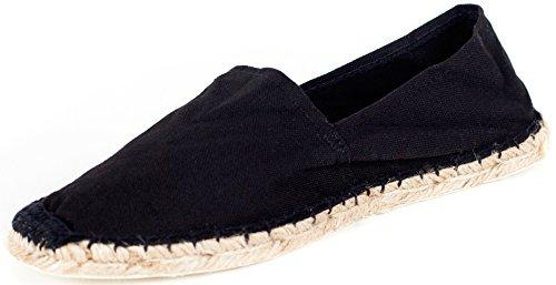 Sommerlatschen Espadrilles, vollgummiert, schwarz, Unisex, SL1095, Größe 45