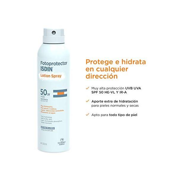 ISDIN Fotoprotector Lotion Spray SPF 50   Alta Sensación Hidratante, Rápida Absorción   250ml