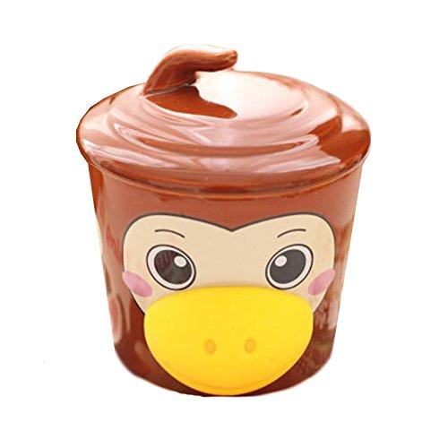 Kinder Lieblings-Saft Milch-Schalen-Karikatur-Affe-Zucker Brown-Becher des Entwu (Affe Milch)