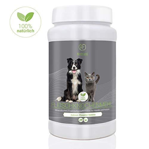 enmehl für Hunde und Katzen | 1 kg - 100% natürliches und reines Knochenmehl zur Stärkung von Knochen und Gelenken und zur Ergänzung beim Barfen | 1000 g ()