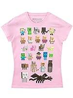 Minecraft - Camiseta para niñas - Minecraft - Rosa - 12 - 13 Años