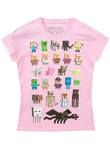 Minecraft Maglietta maniche corte Minecraft Ragazza Rosa 5 6 Anni