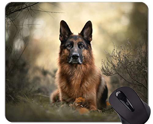 Yanteng Alfombrilla de ratón de Caucho Natural para Juegos, Impresa con Perro...
