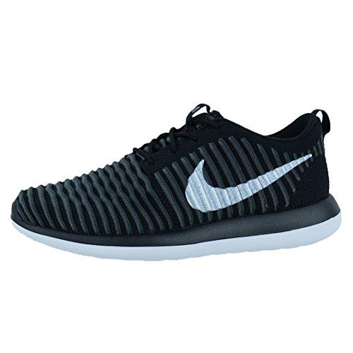 Nike Roshe Two Flyknit (Gs), Chaussures de Running Entrainement Garçon Noir (Black (noir / blanc-anthracite-gris foncé))