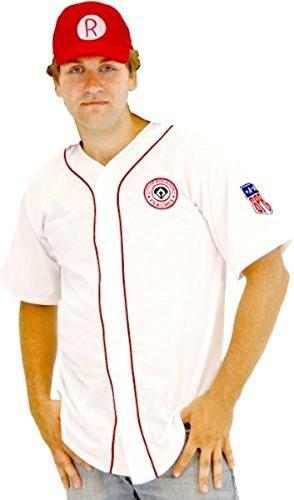 n Rockford Peaches AAGPBL Baseball Herren Kostüm Jersey & Hat (XX-Large) (Rockford Peaches)