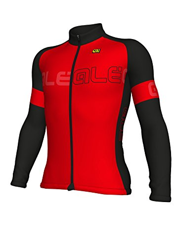 Ale Solid Block Maillot长袖,男士,红色,XL