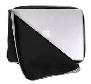 DURAGADGET Housse Néoprène Résistant à l'eau pour Apple MacBook, MacBook Pro, Macbook Air et MacBook Pro avec écran Retina de 13.3 pouces - Noir