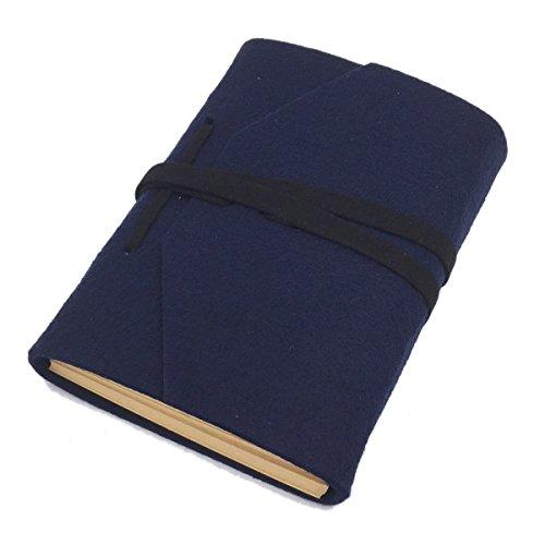 sayeec Retro Slim Filz Cover Hardcover Notebooks–blanko Tagebuch Travel Schreiben Journal Zeichnen Einband 7.2*5inch - Papier Owl Gewicht