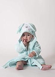 Ti TIN Accappatoio con Cappuccio Per Bambini | 100% Cotone Morbido e Assorbente con Orecchie Di Coniglietto Ro