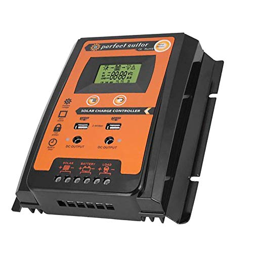 1989candy 12V/24V LCD Automatic Regulator Solar Controller w/Dual USB Port (50A) Automatic Identification System