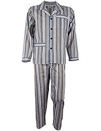 Herren Batist Pyjama gestreift von SOUNON®, Lang und Kurz - 3 Farben (Gr. 48 bis Gr. 60)