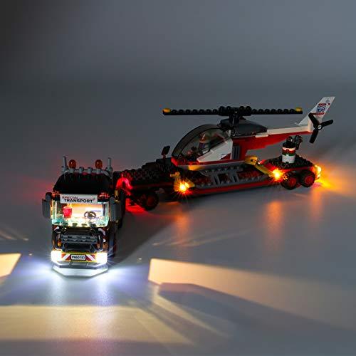 K9CK Kit Luci per Lego City Great Vehicles Trasportatore Carichi Pesanti 60183, Kit di Illuminazione a LED Compatibile con Modello Lego(Solo Luce)