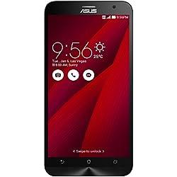 Asus ZenFone 2 Smartphone débloqué 4G ZE551ML (5.5 pouces - 32 Go - Double SIM - Android 5.0 Lollipop) Rouge (import Italie)