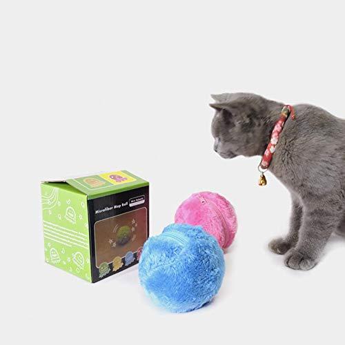 Yann Automatischer Rollball Elektrischer Reiniger Haustier Spielzeug Hund Katze Plüsch Roller mit Abdeckungen Spielzeug Kauschutz Reinigung Home Interaktive Bälle