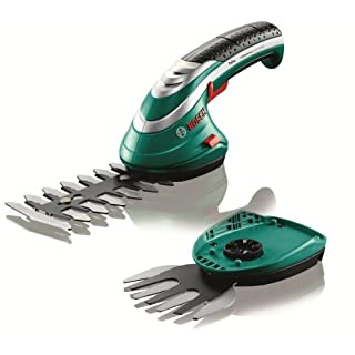 Bosch Cordless Edging Shear Set Isio (3.6 V, Blade Length 12 cm, Tooth Spacing 8 mm, In Cardboard Box)
