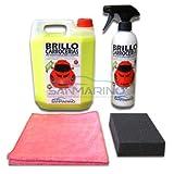 SANMARINO Kit polissage rapide avec cire autobrillante pour carrosserie: 2 L.+ Compléments