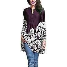 Mujer Blusa larga moda casual verano y otoño manga larga streetwear,Sonnena Mujer Plus tamaño