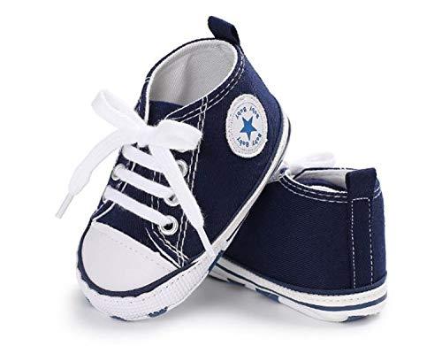 Auxma Niedlich Kind Baby Säugling Junge Mädchen weiche Sohle Kleinkind Schuhe Leinwand Sneak (6-12 Monat, Blau)