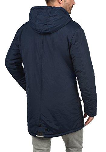 BLEND Hendrik Herren Parka Übergangsjacke lange Jacke mit Kapuze aus hochwertiger Materialqualität Navy (70230)