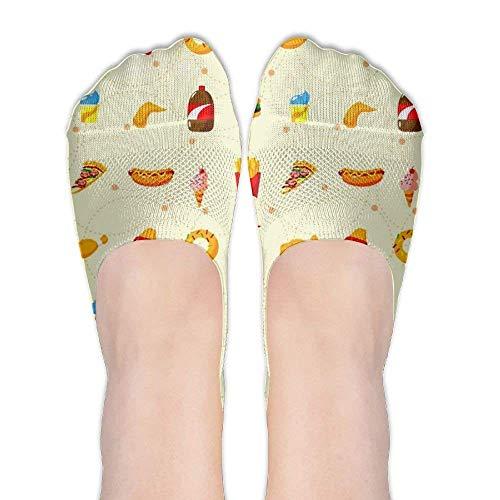 Cute Food Ship Socken Novelty Colorful Casual Cozy Cotton Socken ()