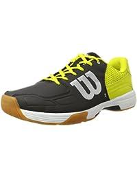 Wilson WRS322340E100, Zapatillas de Tenis Unisex Adulto, Negro (Black / Sulphur Spring / White), 44 2/3 EU