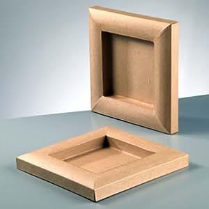 bilderrahmen karton zum basteln bemalen und gestalten 20x20cm toys games. Black Bedroom Furniture Sets. Home Design Ideas