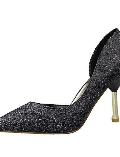 WSS 2016 Chaussures Femme-Habillé-Noir / Rose / Blanc / Argent / Gris / Amande-Talon Aiguille-Talons / Bout Pointu / Bout Fermé-Talons-Similicuir silver-us7.5 / eu38 / uk5.5 / cn38