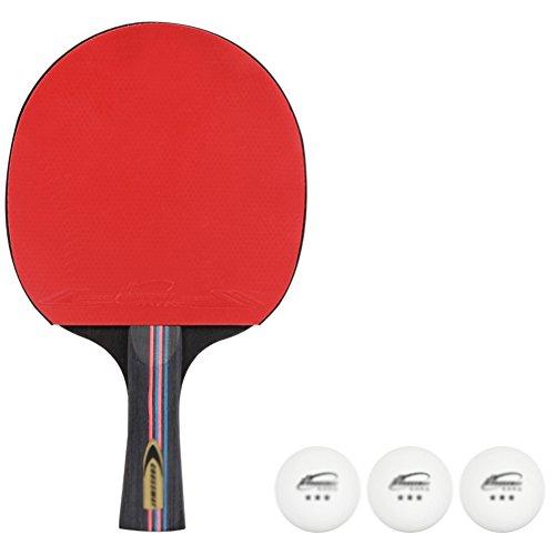 xianw 2-Spieler Indoor Tischtennis Schlagen Set (Paket enth?lt 4 SCHL?ger Paddel, 3 Kugeln, Tragetasche)-B