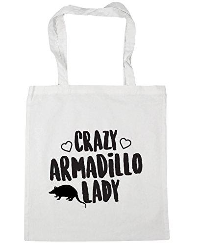 hippowarehouse-crazy-armadillo-lady-tote-shopping-gym-beach-bag-42cm-x38cm-10-litres
