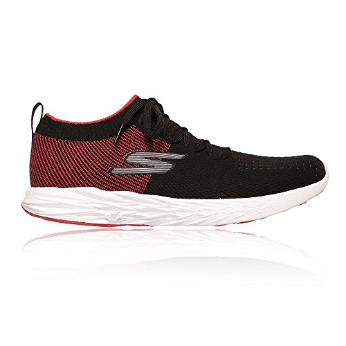 19. Skechers Men's Go 6 Black and Red Running Shoes