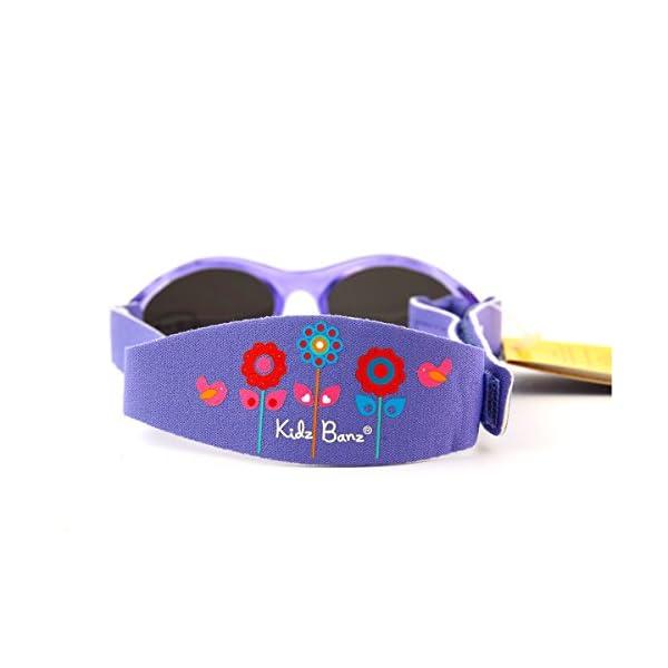 Baby Banz - Gafas de sol Ovaladas para niños, color Rosa (Lavender Tulip), talla 0-2 anos 5