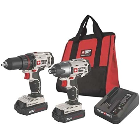 Factory Reconditioned Porter-Cable PCCK604L2R 20V Cordless Lithium-Ion Drill And Impact Driver Kit by (Cordless Impact Driver Kit)