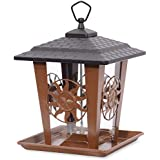 Perky-Pet Mangeoire à oiseaux Sun & Star - Lanterne en métal décoration à suspendre ou à monter sur perchoir - Capacité max. 1,6 kg de graines #370