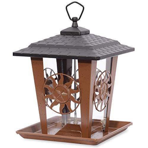 Perky-Pet Comedero pájaros tejado Bandeja-Dispensador