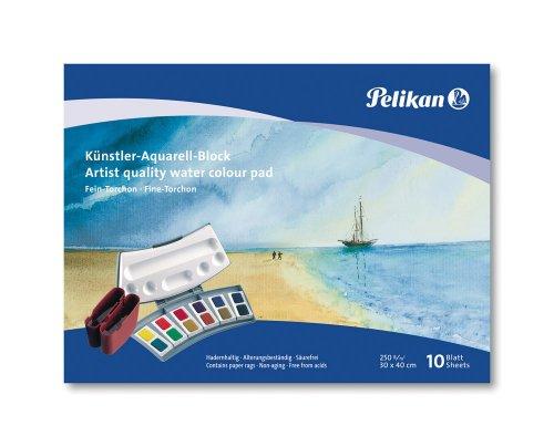 Pelikan 251009 - Künstler Aquarellblock FT4 / 10 10 Blatt, 24 x 34cm