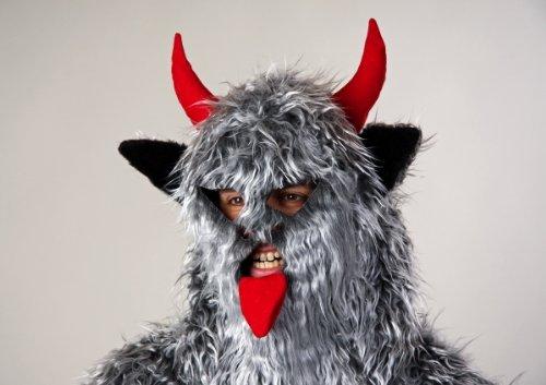 Haubenmaske Krampus Nikolaus Maske Monster Teufel Halloween Karneval