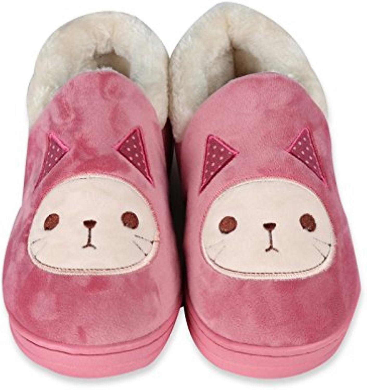 Y-Hui Super Soft Zapatillas casa piso caliente amantes zapatos zapatillas de algodón,Thirty-Eight,luz verde