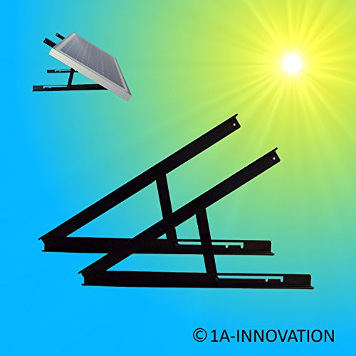 1A-Innovation Halterung Solarmodul 5W - 100W Verstellbar Modulträger Aufständerung Befestigung Solarträger Solarpanelhalterung Befestigung