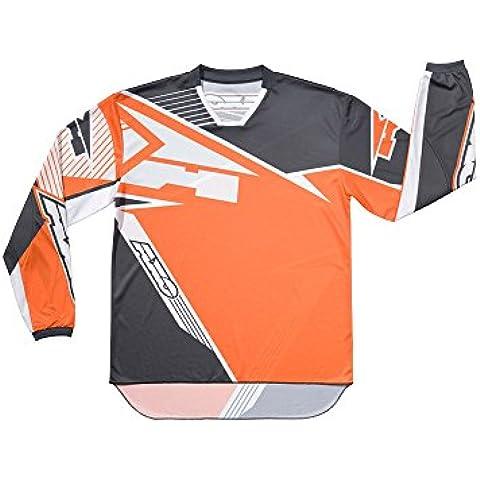 AXO Maglia per Motocross Serie SR JR, Grigio/Nero, XL