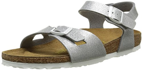 Birkenstock Rio Unisex-Kinder Sandalen, Silver (Magic Galaxy Silver), 34 EU / 4 UK
